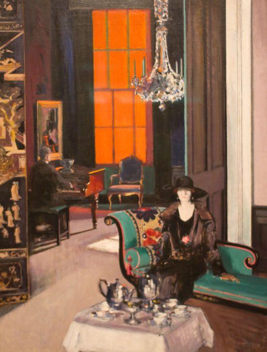 Francis Caddell The Orange Blind 1925, Kelvingrove