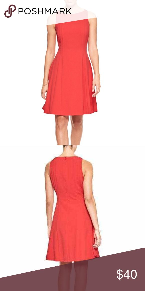 Banana Republic Seamed Fit Flare Dress Hula Red Banana Republic Seamed Fit and Flare Dress Hula Red Orange PETITE 0P 2P 4P 6P  MSRP:$79.99 Banana Republic Dresses Midi