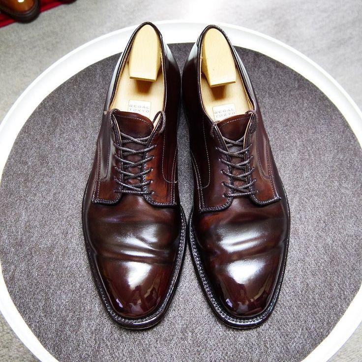 Alden 最近サフィールのコードバンクリームを使ってるんですが油分が多いせいか光にくいです #alden #shoes #mensshoes #shoecare #cordovan #regaltokyo #オールデン #紳士靴 #革靴 #靴磨き #シューケア #コードバン #リーガルトーキョー別注
