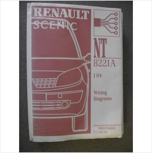 Renault Scenic J84 Wiring Diagrams Manual 2002 Nt8221a