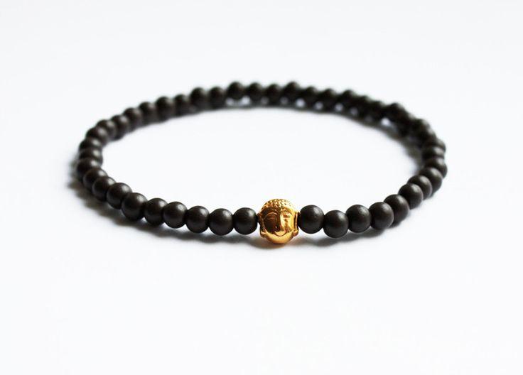 Armbänder - Buddha Armband Dunkelbraun - Yoga Geschenke - Boho - ein Designerstück von AtelierZoe bei DaWanda // Buddha Bracelet // Boho Accessories // Yoga Gift // Mindfulness // Bohemian