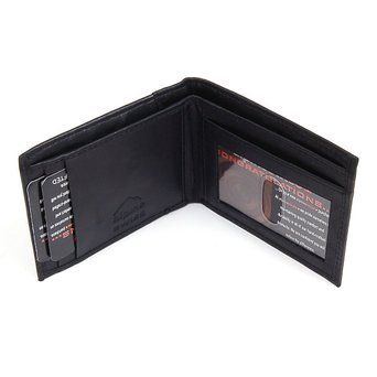 Amazon.com: Mens Slim Wallet Thin Bifold, Billfold Front Pocket Wallet ID Window & Card Case: Clothing