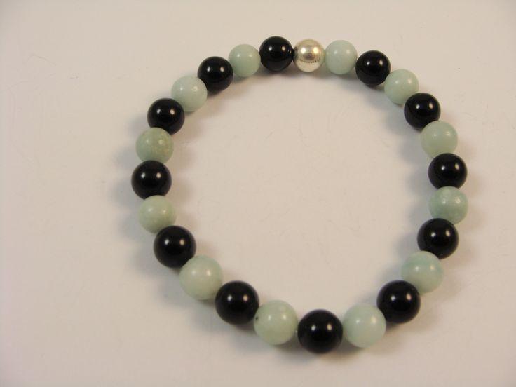 Amasonote and black onyx bead bracelet. www.livioformen.com