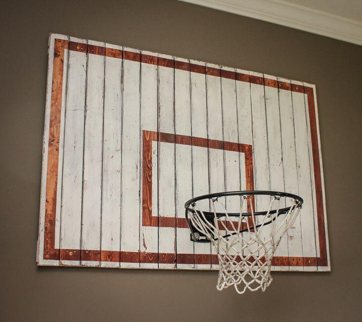 Best 25 basketball bedroom ideas on pinterest for Homemade indoor basketball court