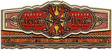 Fuente Fuente Opus X Cigar Band:  When the Fuentes developed the exquisite, rosado leaves at Chateau de la Fuente, they had dreams of creating the world's finest cigar. Experts tasted Fuente Fuente OpusX cigars and declared to the world that the dream was real. Immediately demand for these extremely rare Opus X cigars skyrocketed.  Because of the family's deep rooted tradition to never rush the hands of time, they only create enough Opus X cigars to release very sparingly.