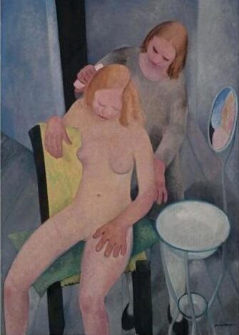 """""""Aprile (La toeletta, Primavera)"""" di Felice Casorati, 1929-30. Purificati, entriamo nel nuovo mese."""