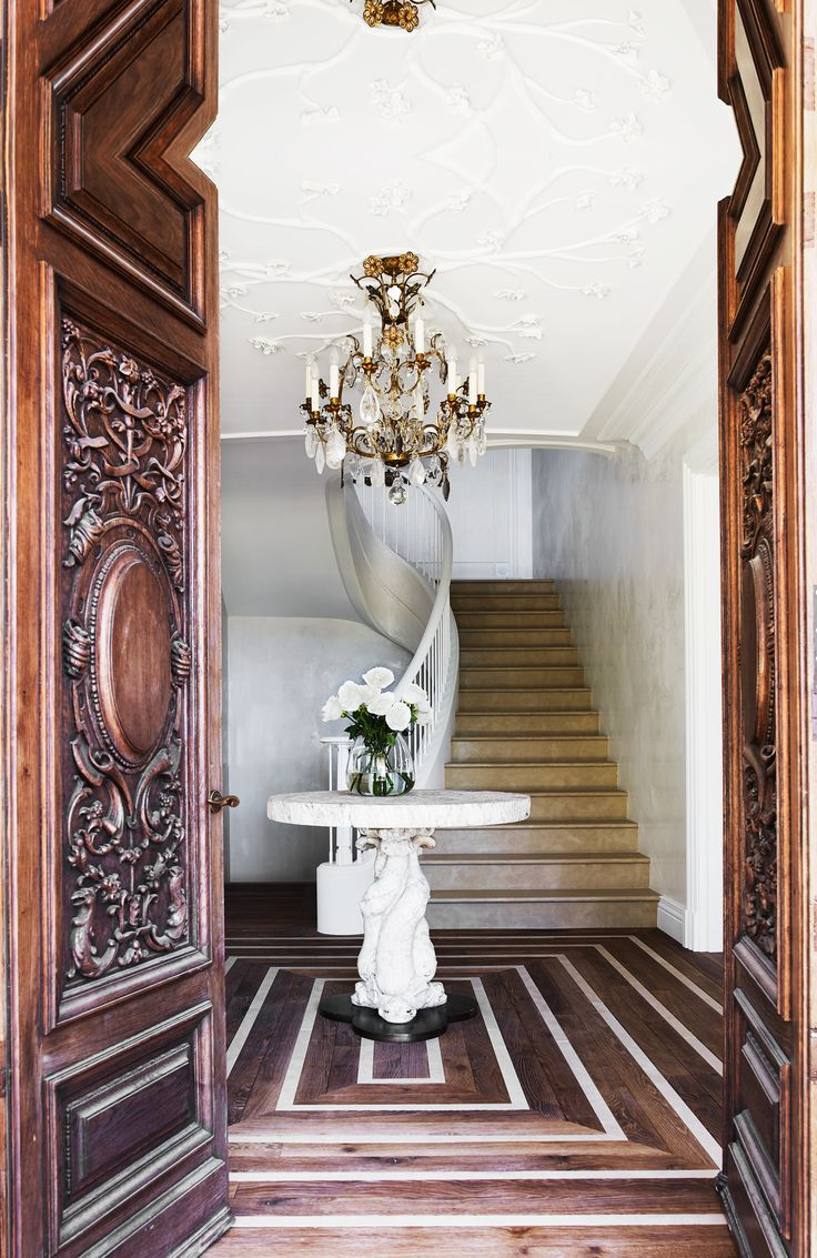 Grand entryway from Italianate Mansion in Sydney by Dylan Farrell Design. Photography: Prue Ruscoe | Styling: Karen Cotton | Story: Belle