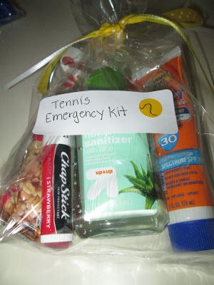 roommom27: Tennis Team Emergency Kits