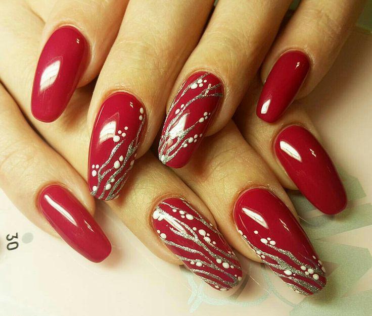 Ногти, дизайн ногтей, гель, наращивание гелем, красный, nails, nail polish, design, red