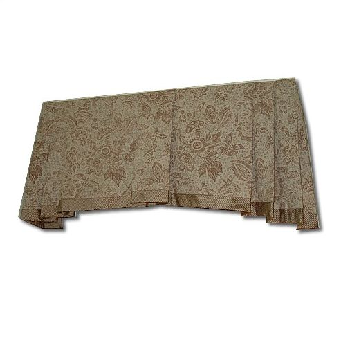 Box Pleat Valance Curved Bottom Edge Sewing