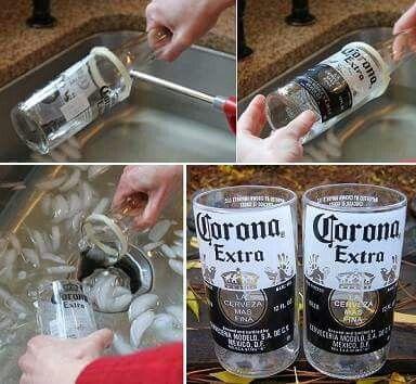 Como cortar botellas de vidrio diy pinterest crazy - Como cortar botellas de vidrio ...