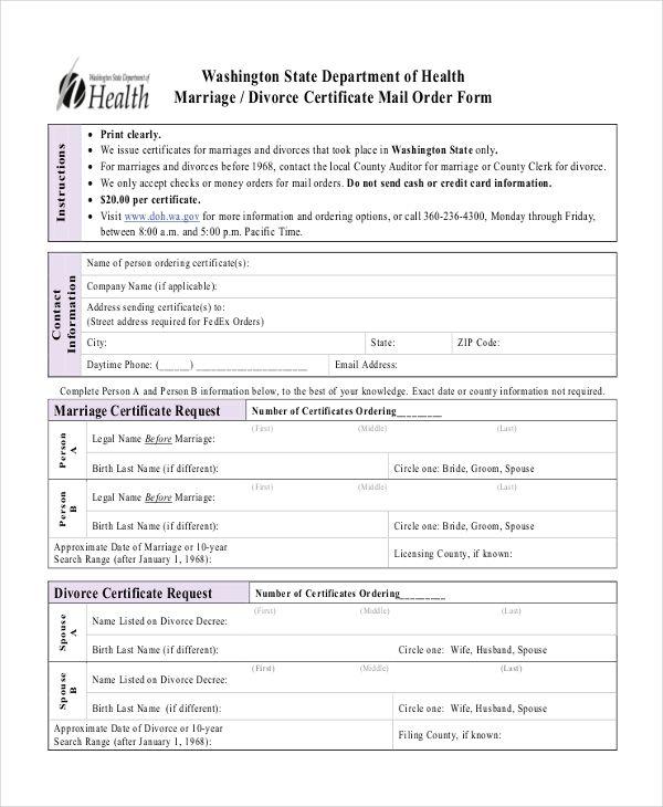 11+ Divorce Certificate Templates Free Printable Word  PDF