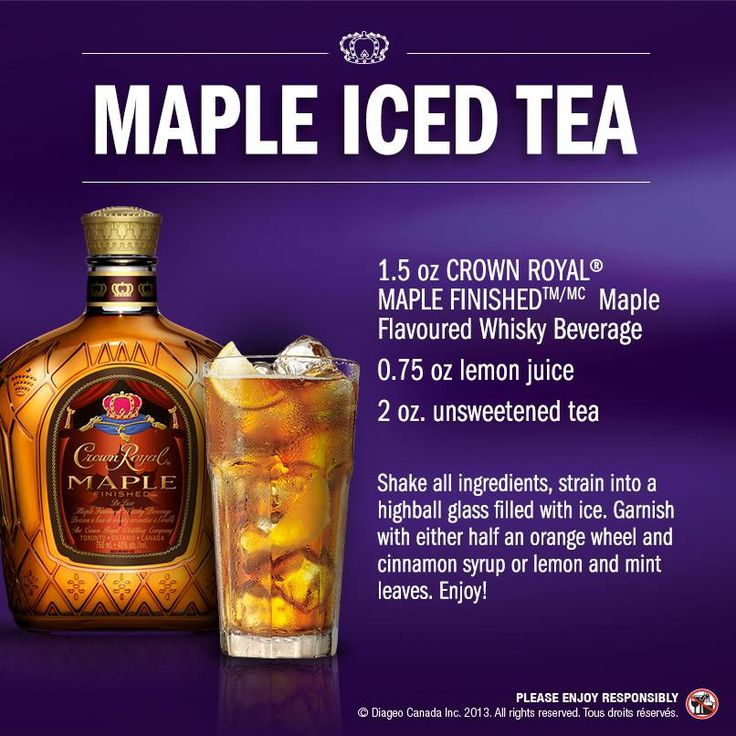 25 best ideas about crown royal drinks on pinterest for Iced tea and whiskey drink