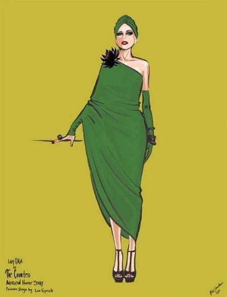 Образ героини Леди Гага из сериала «Американская история ужасов: Отель».: la_gatta_ciara
