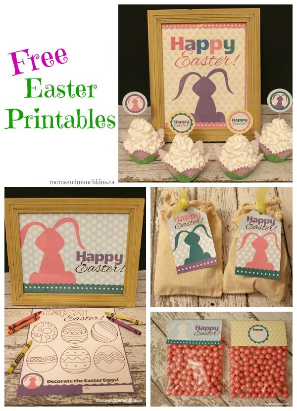 Free Easter Printables – Easter favor bag toppers, Easter coloring pages and mor…   – Easter