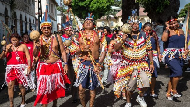 UN International Day of the World's Indigenous People in French Guiana