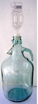 Glasballon 5 Liter mit Bügelverschluss und Gäraufsatz - neues Modell! 5L Weinballon / Gärballon: Amazon.de: Küche & Haushalt