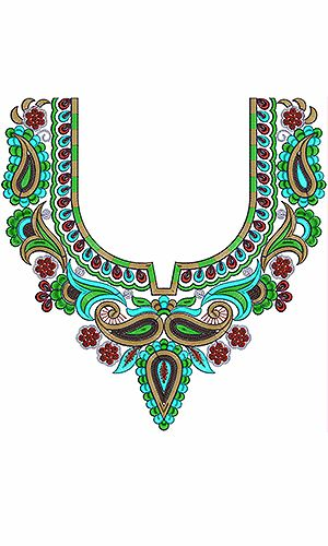 Neck Embroidery Design For Salwar Kameez