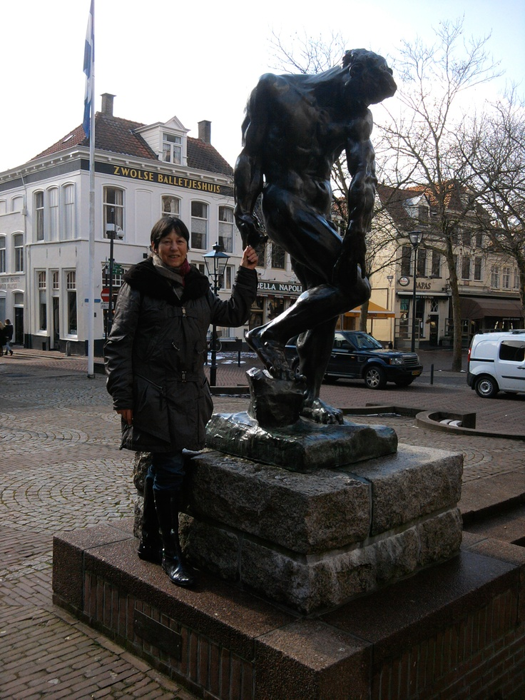 'Adam' Bronze by Auguste Rodin. Grote Kerkplein Zwolle, Netherlands. March 13th, 2013
