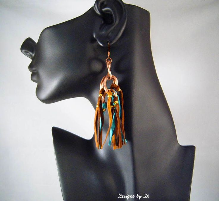 Earrings that go with the Suede Fringe Necklace