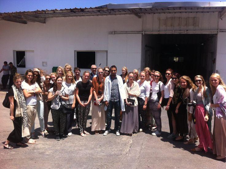 TMO Inkoopproject    Excursie Turkije, Macedonië en Tunesië    TMO studenten    Fabriek Tunesië    in Tunesië
