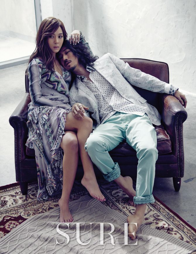 Tiger JK and Yoon Mi Rae - Sure Magazine February Issue '15
