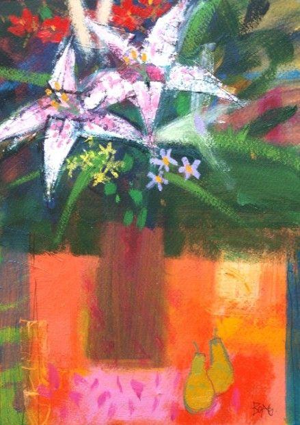 Francis Boag, September Flowers IV, Mixed Media | Scottish Contemporary Art