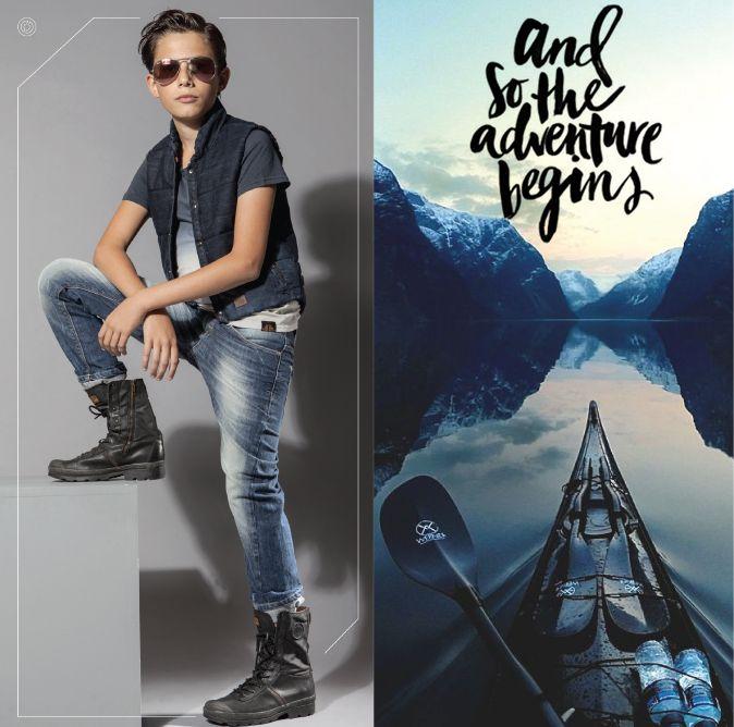 #happy #woensdag tijd voor #avontuur #bluepepper #kinderkleding #denim #broeken #jeans #jongens #mode #rayban #zonnebril #bodywarmer www.bluepepperindustries.com