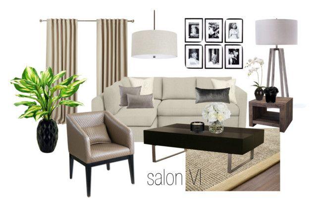 salon VI by a-filipczak on Polyvore featuring interior, interiors, interior design, dom, home decor, interior decorating, Dot & Bo, Capital Lighting, GO Home Ltd. and Eichholtz