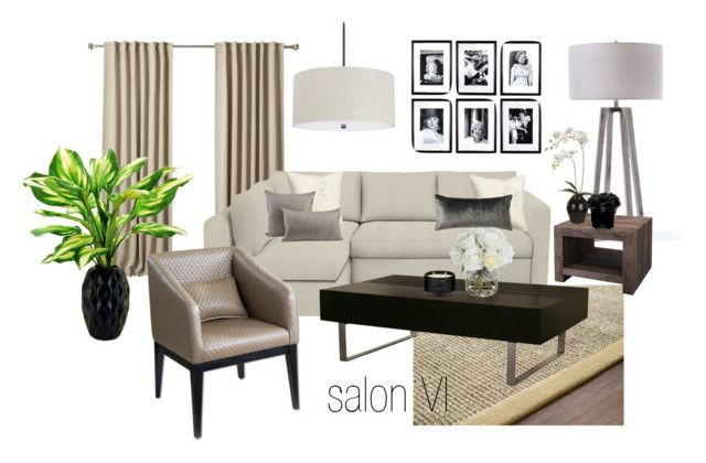 salon VI by a-filipczak on Polyvore featuring interior, interiors, interior design, dom, home decor, interior decorating, Dot & Bo, Capital Lighting, GO Home Ltd. and Eichholtz