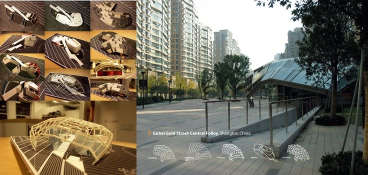 Study Model for Gubei Gold Street-East Folley in Shanghai, China, 2009 / SWA Gourp