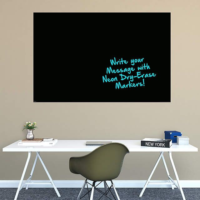 Jumbo Black Dry Erase Board by Fathead