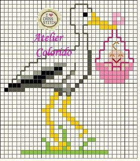 Meus Pontinhos (Ponto cruz e Gráficos): Gráficos de Bebê