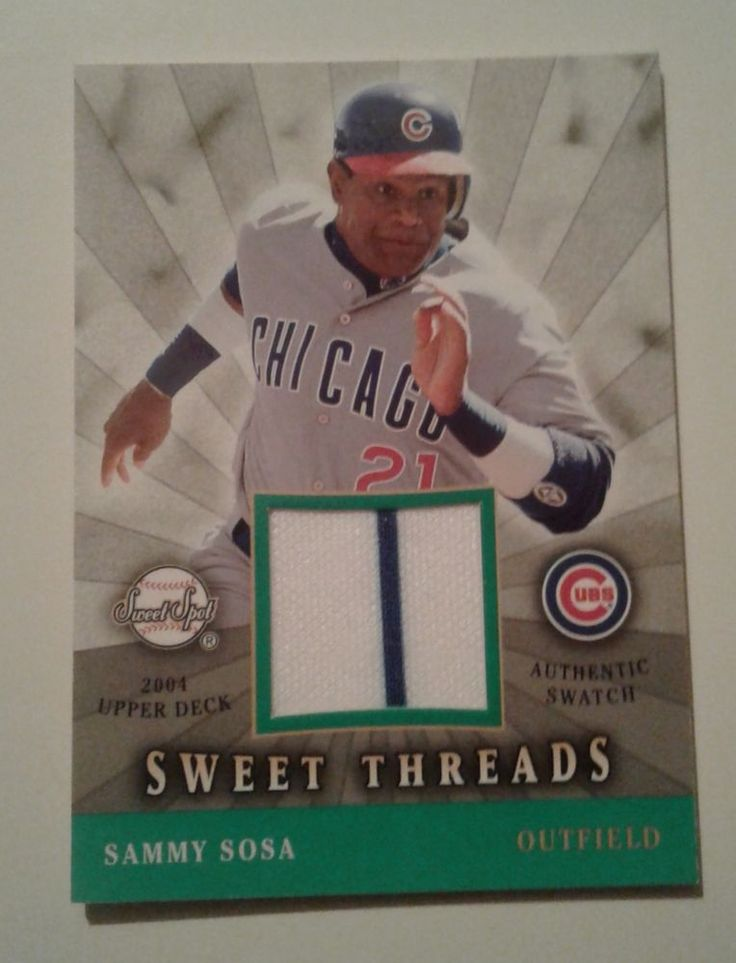 2004 UPPER DECK SWEET SPOT SWEET THREADS SAMMY SOSA AUTHENTIC SWATCH # STS_SS #ChicagoCubs
