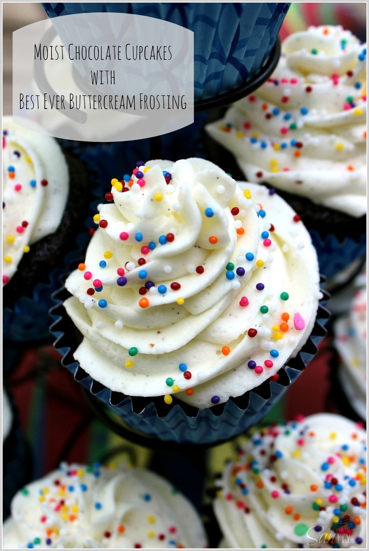 Moist Chocolate Cupcake with Best Ever Buttercream