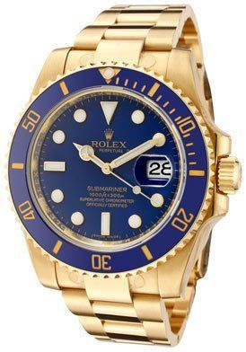 0c749a45276 Rolex Oyster Perpetual Date Submariner 300m. Gold with Blue bezel and Dial.
