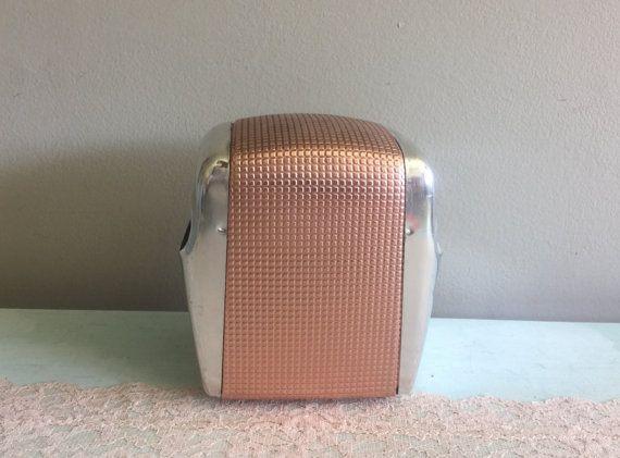 1950s copper and chrome napkin dispenser by divinevintagechic