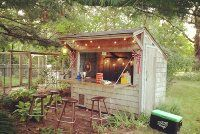 ACE PLACE. Rabbit shed turned into our outside bar.