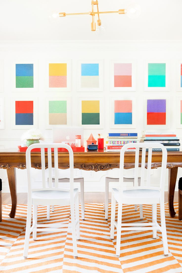 Pencil Paper Cos Fabulously Colorful Home Tour Bright Dining RoomsDining