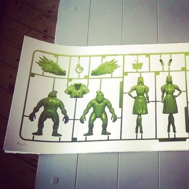 Trapped by The Strange Case Company (detail) #strangecaseco #wizardofoz #Dorothy #flyingmonkey #plastic #silkscreen #giclee #art