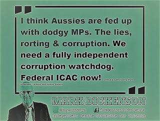 Mark Dickenson Twitter politician Australia.: Why s44(i-v) exists & is important.