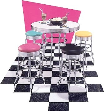 Nostalgic bistro set. #Retro #furniture #Toronto.