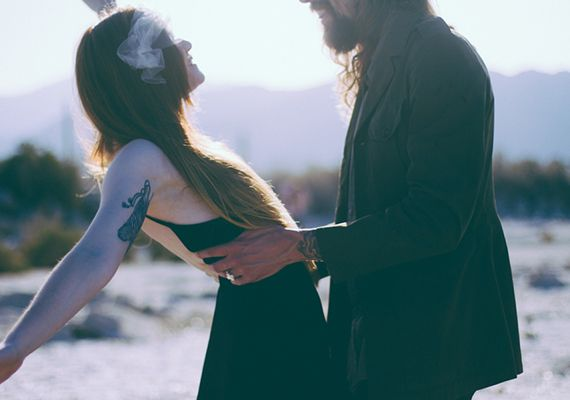 surprise proposal at Salton Sea State Park | photo by Lace and Likes | 100 Layer Cake