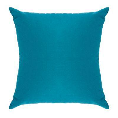 Debenhams Turquoise cotton square cushion- at Debenhams Mobile