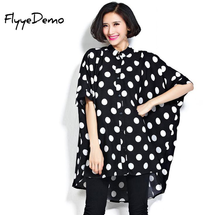 Hot Women 2017 Summer Plus Size T Shirts Ladies Fashion Oversized Batwing Sleeve Polka Dot Prints Super Large Loose T-Shirts #Affiliate