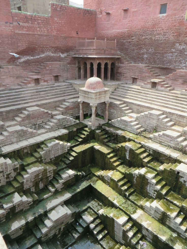 Can India's Ancient Stepwells Help Solve the Country's Water Crisis? - CityLab Now largely obsolete, these Escher-like cisterns were once monuments of public life. And in the midst of water shortage, stepwells may refill their civic role.