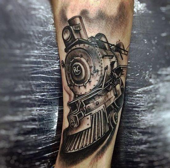 70 Train Tattoos For Men - Masculine Railroad Designs