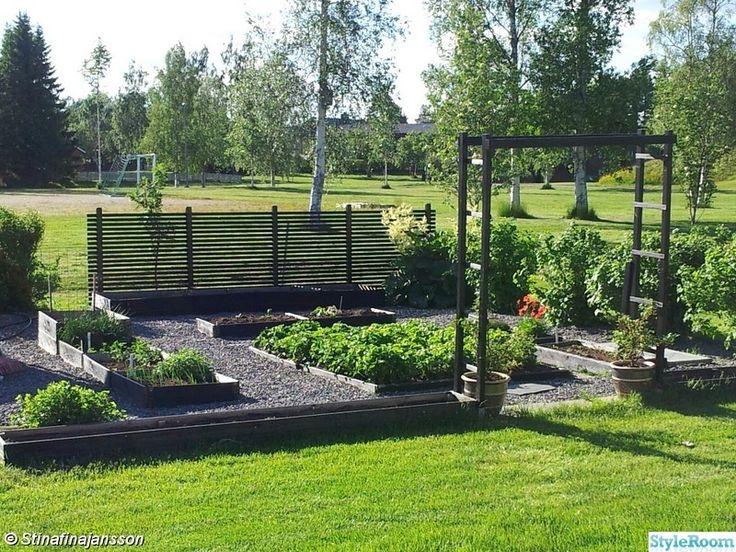 så får du vind- och insynsskyddat trädgårdsland