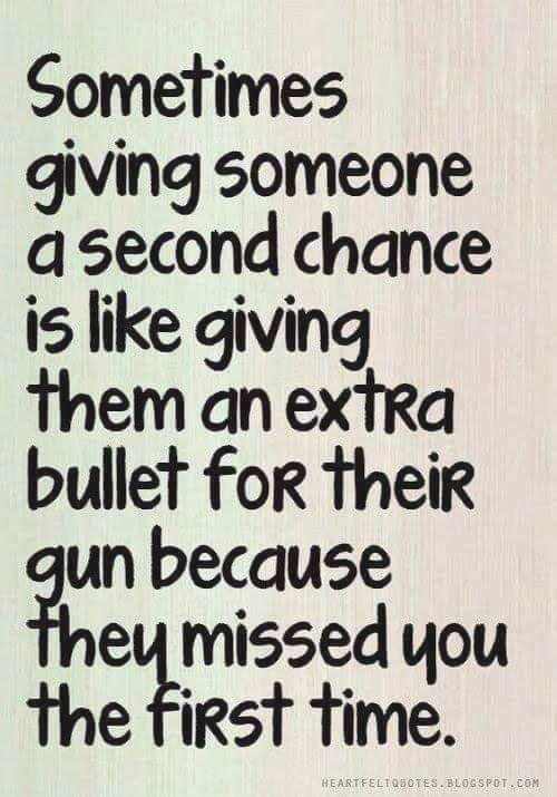manchmal jemandem eine zweite chance ist wie ihnen eine