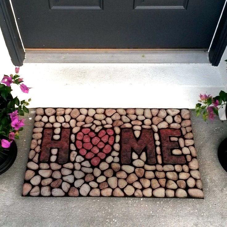 Honana WX-K3 Home Stones 3D Doormat Rubber Mat Anti-slip Floor Carpet Bathroom Rug